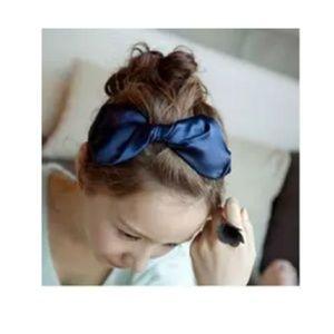 Black Japanese Large Bow Headband